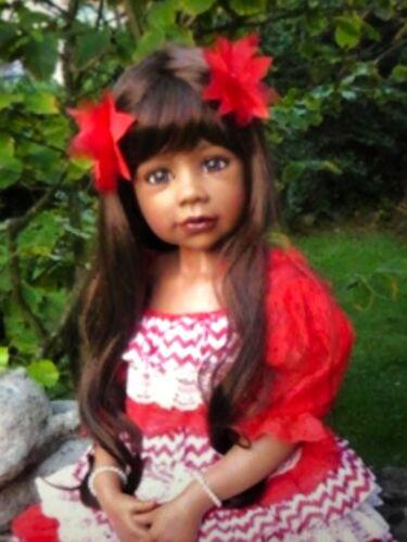 Fits Up To 19 Inch Head Masterpiece Dolls Natalie Brunette Wig