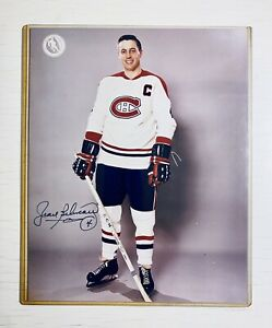 JEAN BELIVEAU Montreal Canadiens AUTO 8x10 Photo Signed