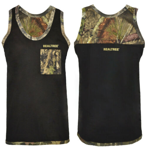 Mens Jungle Camo Muscle Vest Realtree Sleeveless Outdoor Tank Top Army Fishing