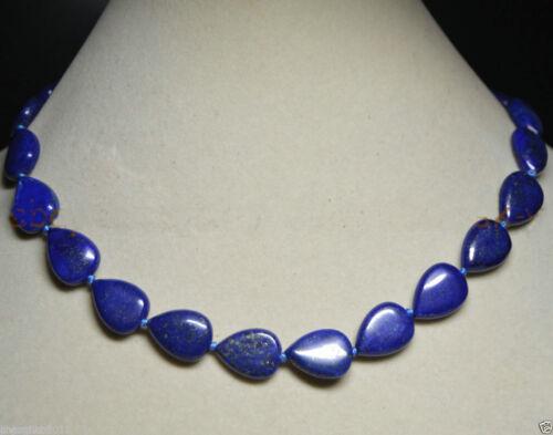 "Genuine 13x18mm Natural Blue Lapis Lazuli Flat Oval Gemstone Loose Beads 15/""AAA"