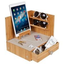 Zen Corner Multi Device Charging And Sunglass Station Dock Valet With Drawer