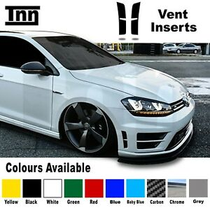 Volkswagen-VW-Golf-R-MK7-Vent-Bumper-Insert-Indent-Stickers-Decals-Carbon-Chrome