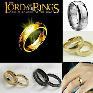 The Lord of the Rings The One Ring LOTR Titanium Stainless Steel