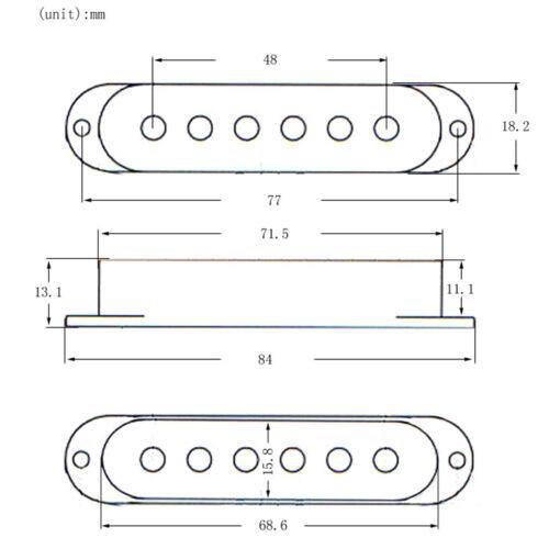 3 stücke Single Coil SSS Humbucker Pickup Covers für Fender ST SQ Gitarren