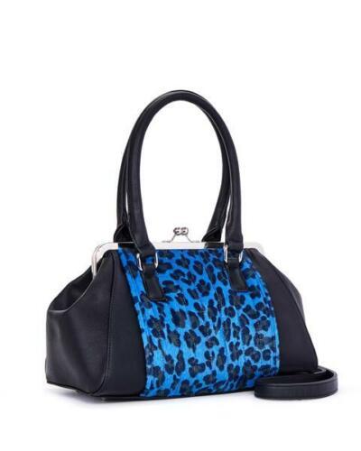 Handtasche Lux Sweet Pea Blauer De Spk88bbp Rockabilly Kussverschluss Ville Mit Leopard 448q6wHp