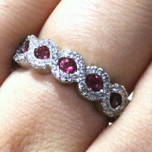 25-Ct-Oval-Red-Ruby-Ring-Women-Wedding-Jewelry-Gift-14K-White-Gold-Plated