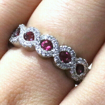 T-Jewelry Fashion Unique Gold Plated Ring For Women Oval Ruby Jewelry Wedding Rings