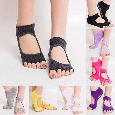 New Gym Sports Yoga Socks Non-Slip Full/&Half Toe Pilates Ankle Grip Cotton Socks