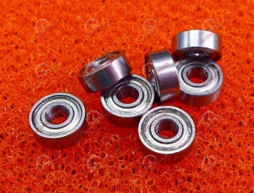 3x8x3 mm 50 PCS MR83ZZ Metal Double Shielded Ball Bearing Bearings MR83z