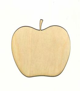 Details About Apple Unfinished Wood Shape Cut Out A11413 Crafts Lindahl Woodcrafts