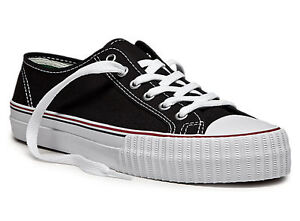 PF Flyers Center Black White Canvas Low Tops New In Box Original