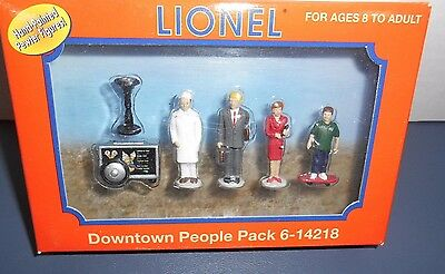 Lionel #14218 Hand Painted Pewter Downtown People Pack (DM)