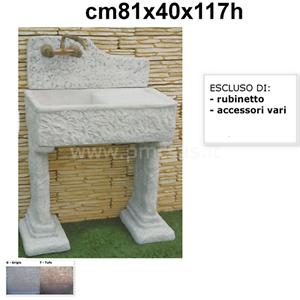 Lavandini da esterno penice con gocciolatoio cm81x40x117h lavello da esterno ebay - Lavandini da esterno ...