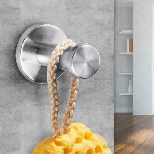 Brushed Bathroom Stainless Steel Towel Hook Wall Mount Coat Hangers Robe E0D4