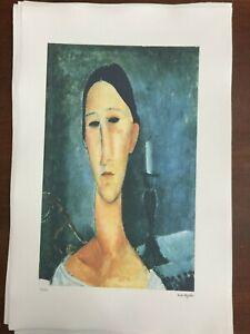 Modigliani-Amedeo-Litografia-cm-51x78-con-fotoautentica-edizione-Georges-Israel