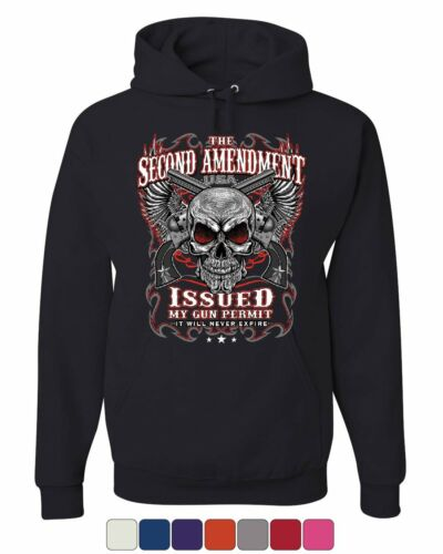 The Second Amendment Issued My Gun Permit Hoodie 2A Gun Rights Sweatshirt