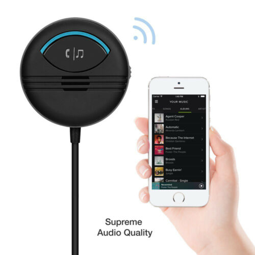 High Quality AUX Bluetooth Receiver Built in Noise Isolated IC Handsfree Car Kit