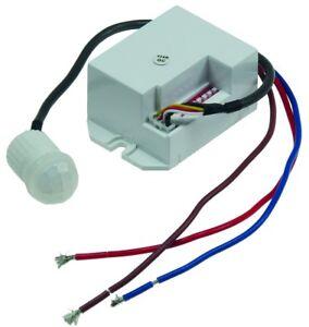 Mini Bewegungsmelder Zum Einbau Sensor 230 V Unterputz Für LED BIS800W PIR 360°