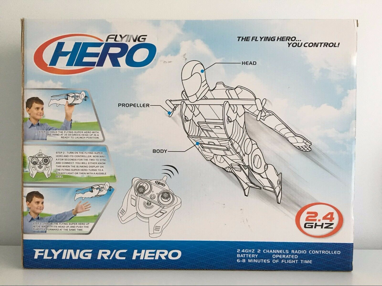 Flying R C Hero 2.4GHZ 2 Channels Radio Control Control Control Lightweight&Durable Outdoor giocattolo a052e1