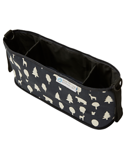 Keep-Me-Cosy-Pram-amp-Stroller-Organiser-Cup-Holder-Caddy-Bag-Woodland-Friends