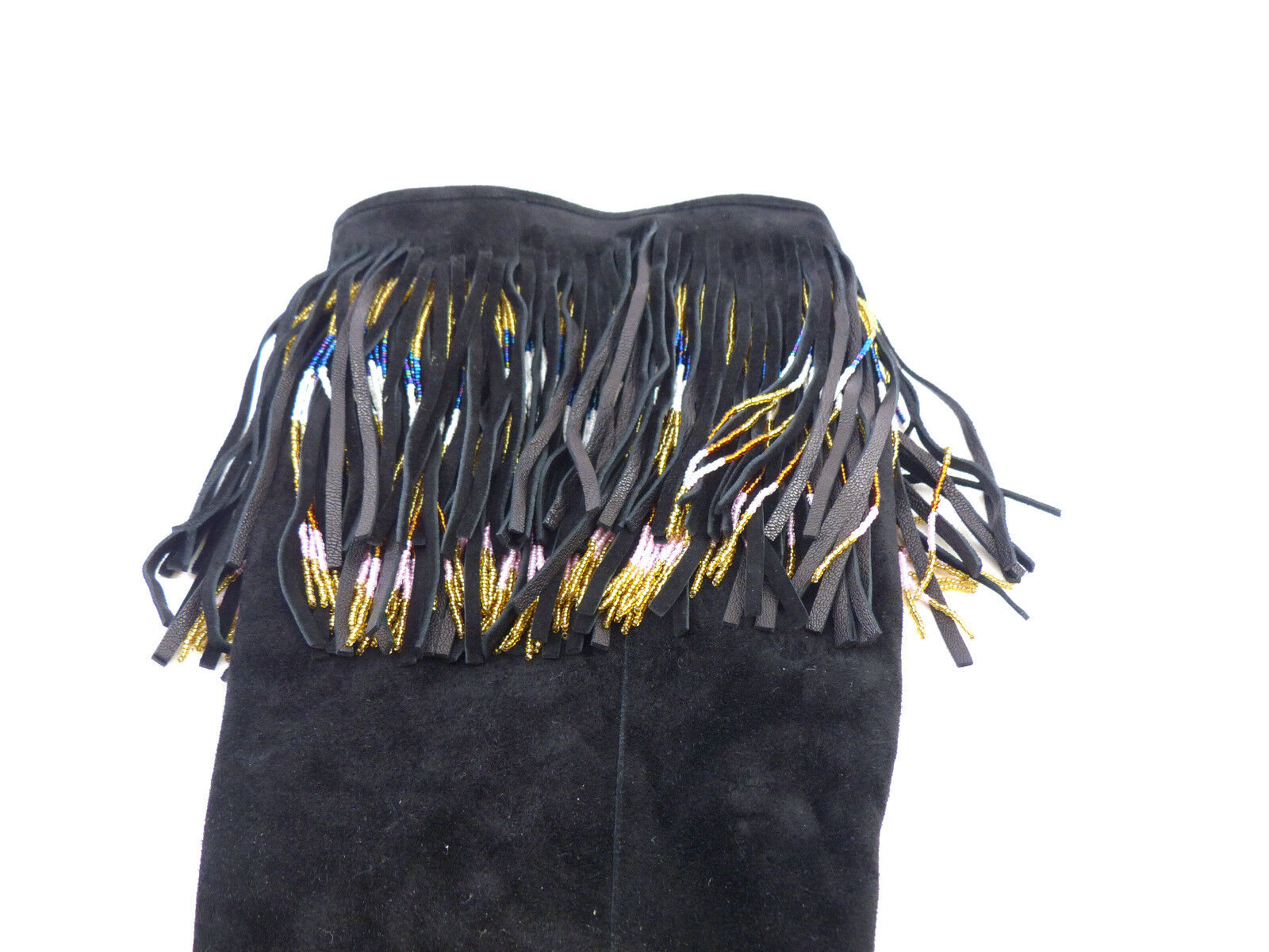 Jimmy Choo Bill en daim daim daim noir orné de perles Bottes Hautes  UK 7.5 EU 40.5 US 10.5 aadc6c