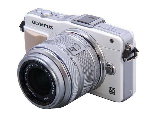 OLYMPUS E-PM2 White Micro Four Thirds Interchangeable Lens System Camera with Si