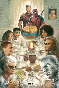 Poster-A2-Deadpool-2-Cable-Cena-Navidad-Christmas-Dinner-Marvel-Cartel-Film-16