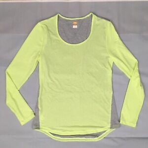 867788e26421 Lucy Tech Womens Long Sleeve Top Sz M Athletic Yoga Gray Yellow ...
