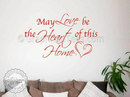 Inspirational Family Wall Sticker Vinyl Decor Decal Love Home Quote