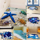 3D Beach Floor/Wall Sticker Removable Mural Decals Vinyl Art Living Room Decors