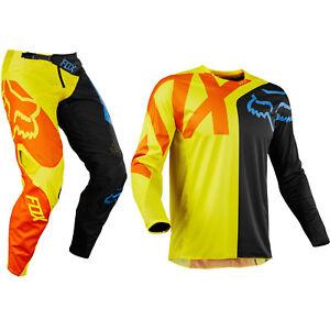 Black//Yellow//Small Fox Racing 360 Preme Mens Off-Road Jersey