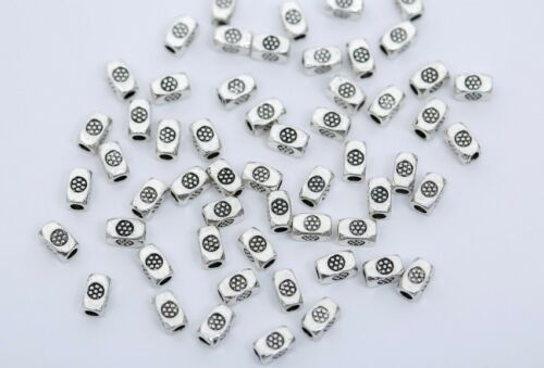 20//50//100x Tibetan Silver Metal Loose Tube Spacer Beads Jewelry Making Charms BL