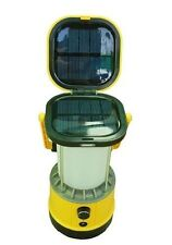 "10"" Yellow Solar Camping Lantern or Lamp ,Solar Lantern Charges Universal Cell"