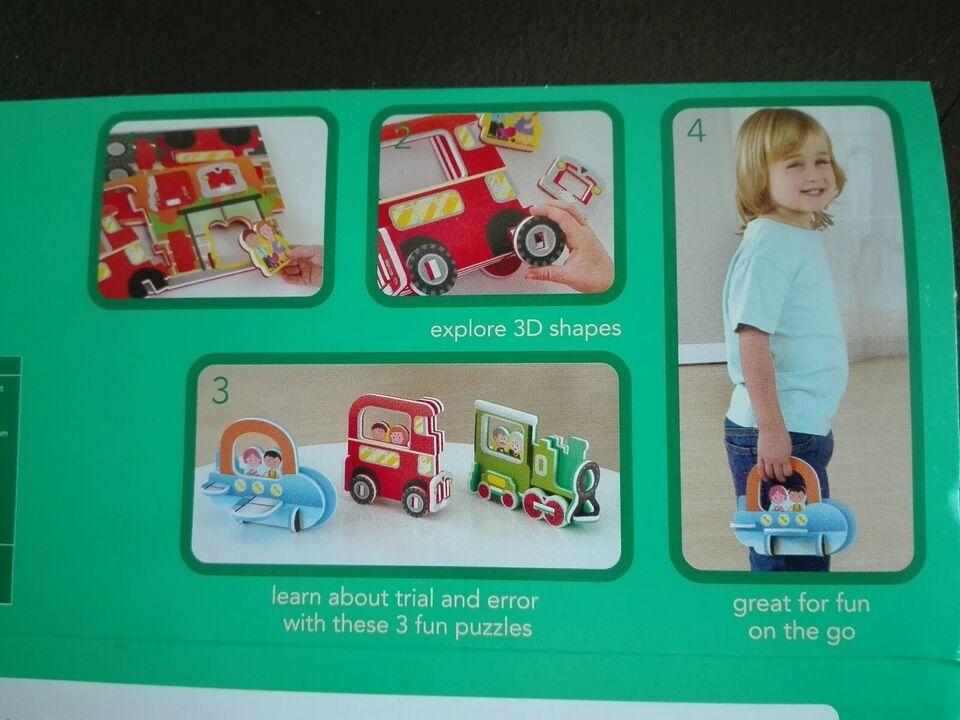 Vehicles, 3d, puslespil