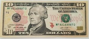 USA-Billet-de-10-Dollars-Excellent-Etat-envoi-gratuit