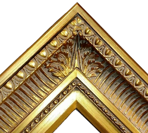 4-25-034-WIDE-Fancy-Gold-Ornate-Oil-Painting-Wood-Picture-Frame-655G