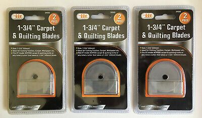 """For Rotary Fabric Cutters Rotary Cutter Refill Blades 1-3//4/"""" 10 Pack 45MM"""