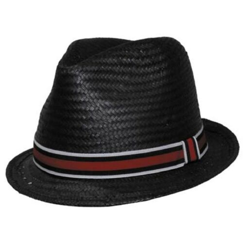 Playershut schmale Krempe schwarz Pokerhut Strohhut Sommerhut Spielerhut Hut