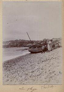 Le-Havre-La-Plage-France-Photo-Amateur-Vintage-citrate-c1900