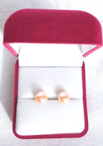 Sterling Silver Cream Freshwater Pearl Studs Earrings