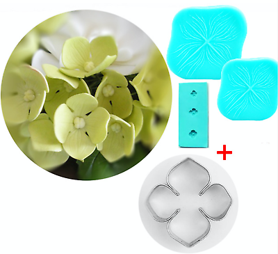 Hydrangea Petal Silicone Veiner