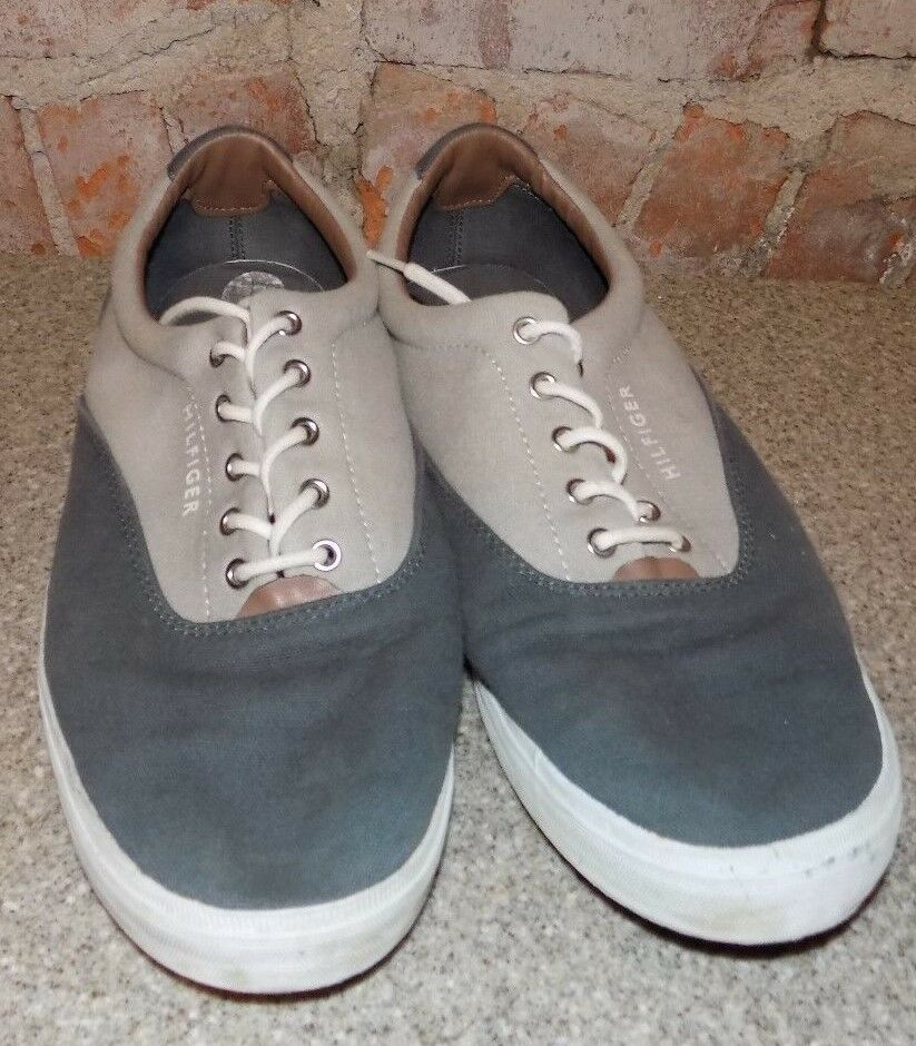 TOMMY-HILFIGERS SHOES MENS SIZE12 GRAY  TWO TONE GRAY SIZE12 CASUALS 58535e