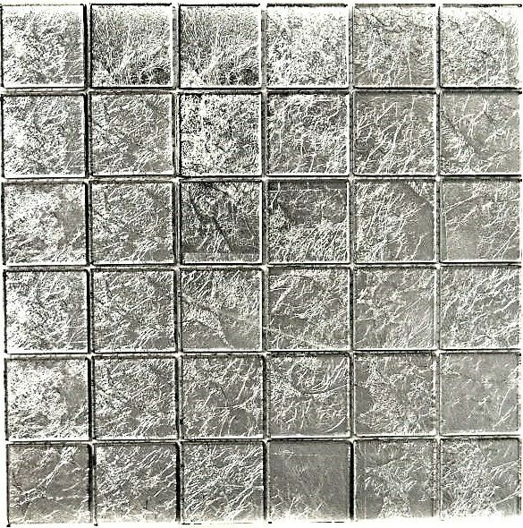 Glasmosaik uni silber silber silber Struktur Fliesenspiegel Küche Art: 68-4SB21 | 10 Matten f06d1b