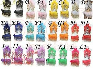 24X WHOLESALE LOT children's BELLY DANCE HIP SCARF WRAP SKIRT Waistband for KID
