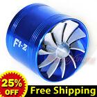 "2.5""-2.9"" 64-74mm Supercharger AIR INTAKE TURBONATOR Gas Fuel Saver Fan Kit BLUE"