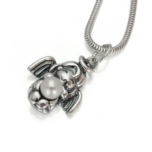 Mädchen Engelanhänger Schutzengel  Engel Schmuck mit Muschel Perle  925er Silber