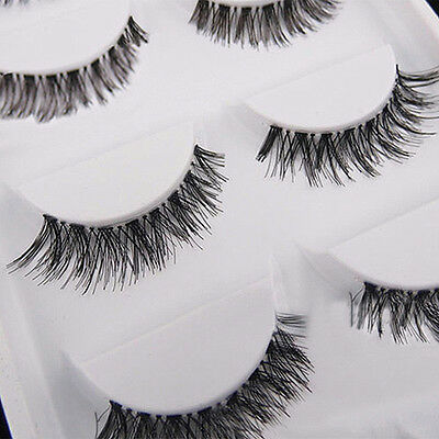 5 Pair Modish Good Cross False Eyelash Marvellous Soft Long Eye Lash Extension