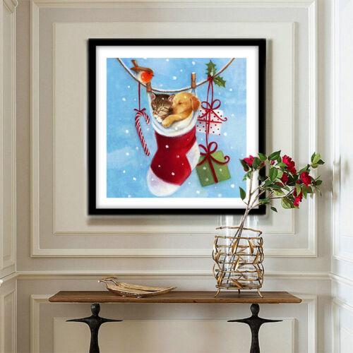 Merry Christmas Full Drill DIY 5D Diamond Painting Cross Stitch Kits Santa Claus