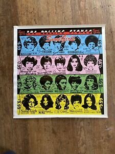 ROLLING-STONES-1978-SOME-GIRLS-US-PROMO-POSTER-24-X-24-034-RARE-Vintage