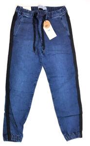 2b5eb9fb557 Cotton On Men's Drake Cuffed Denim Jogger Pants w/ Side Stripes ...